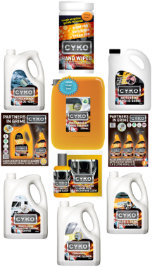 Showing the range that we have on offer at CYKO. From grease and grime to bugs and road tar, we have the answer!