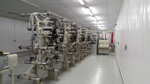 A snapshot of our wet wipe production line