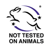 We never test our products on animals!