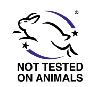 We never test our products on animals.
