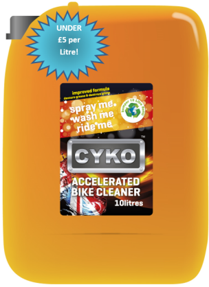 A picture of the best bike cleaner in the UK!